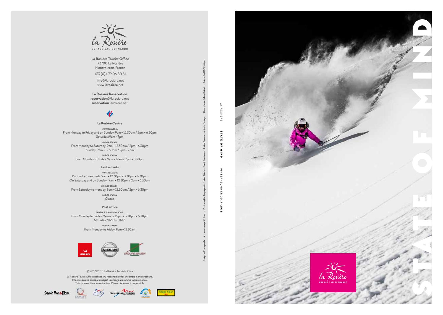 La Rosiere English Brochure 2017 2018 By La Rosiere Tourism Issuu