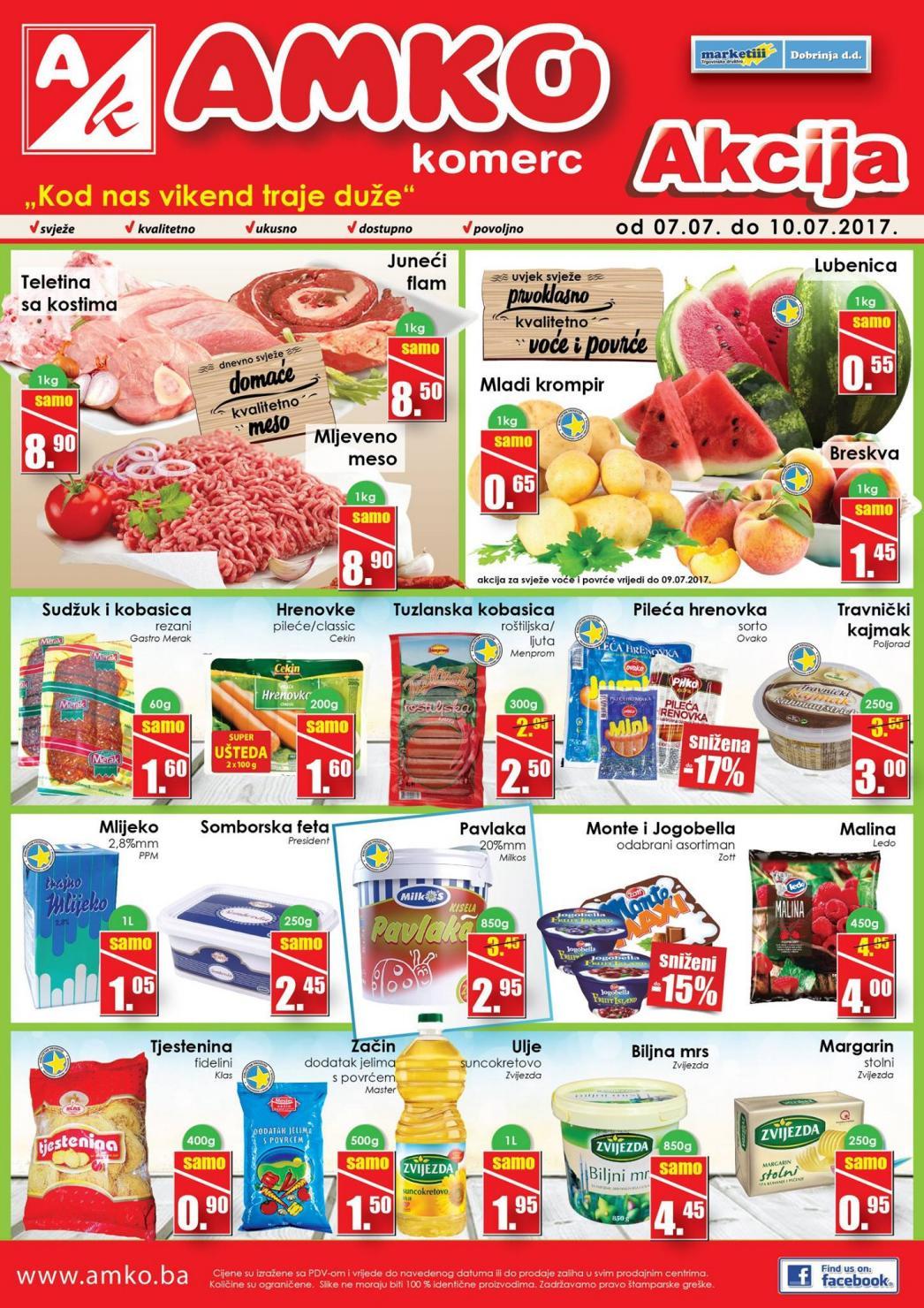 Nova vikend akcija od 07.- 10.07.2017. u AMKO Komerc prodajnim centrima