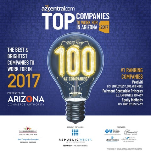 top companies to work for in arizona 2017 by republic media