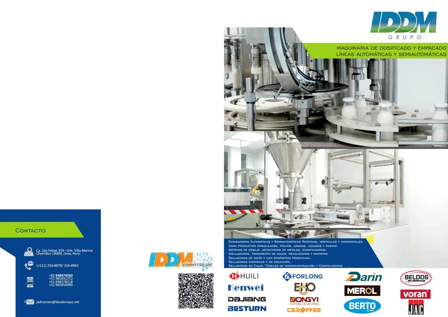 10cf0ddb9 Catálogo Maquinaria de Empaque y de Fabricación de Alimentos by IDDM Grupo  - issuu