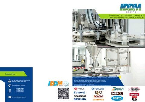 4172c8503 Catálogo Maquinaria de Empaque y de Fabricación de Alimentos by IDDM ...