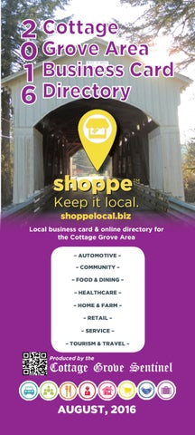 Cottage grove area business card directory 2016 by cottage grove 2 cottage 0 grove area 1 business card 6 directory shoppe reheart Image collections
