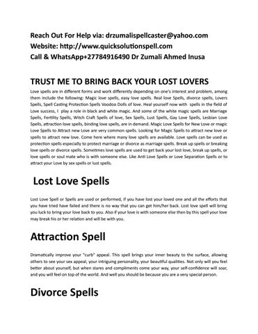 Call+27784916490 Dr Zumali Traditional Doctor Love Spell