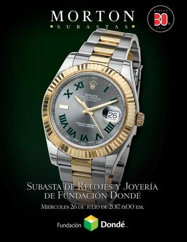 dc39f7575ad3 Subasta de Relojes y Joyería de Fundación Dondé by Morton Subastas ...