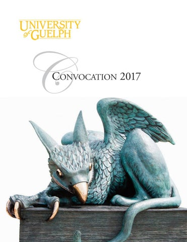 2017 University Of Guelph Summer Convocation By University Of Guelph ...