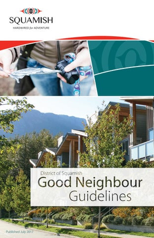 Good neighbour guidelines by District of Squamish - issuu