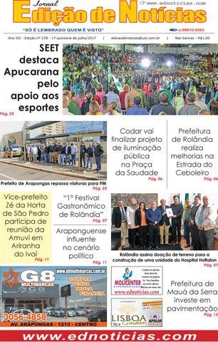 Ano XII - Edição nº 278 - 1ª quinzena de julho 2017. SEET destaca Apucarana  pelo apoio aos esportes 57d8965ed870a