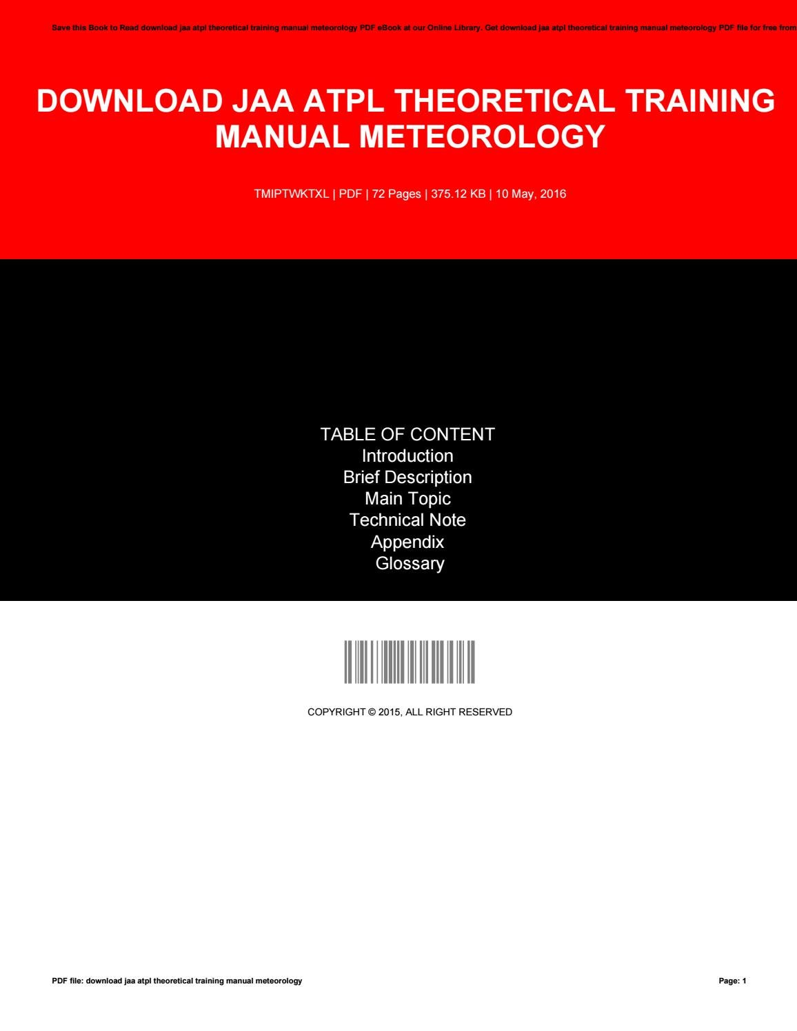 Download jaa atpl theoretical training manual meteorology by JimmyLove2685  - issuu
