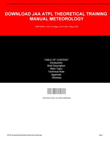 Oaa atpl manual array download jaa atpl theoretical training manual meteorology by rh issuu com fandeluxe Images