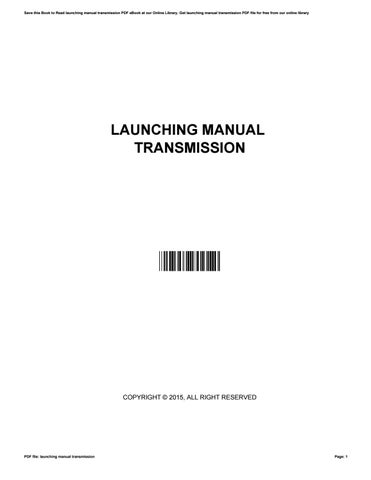 Suzuki grand vitara 1996 service manual by stevenrodriguez2636 issuu cover of launching manual transmission fandeluxe Choice Image