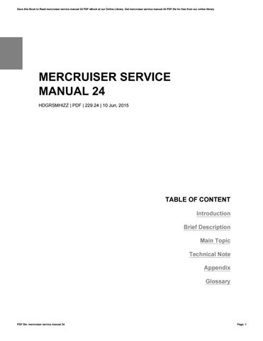 mercruiser service manual 24 by charles issuu rh issuu com Mercruiser Sterndrive Parts Mercruiser Parts
