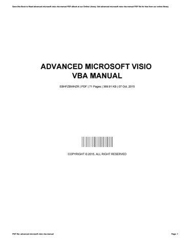 advanced microsoft visio vba manual by nancyrice3876 issuu rh issuu com Macros in Visio Visio VBA Shape Properties