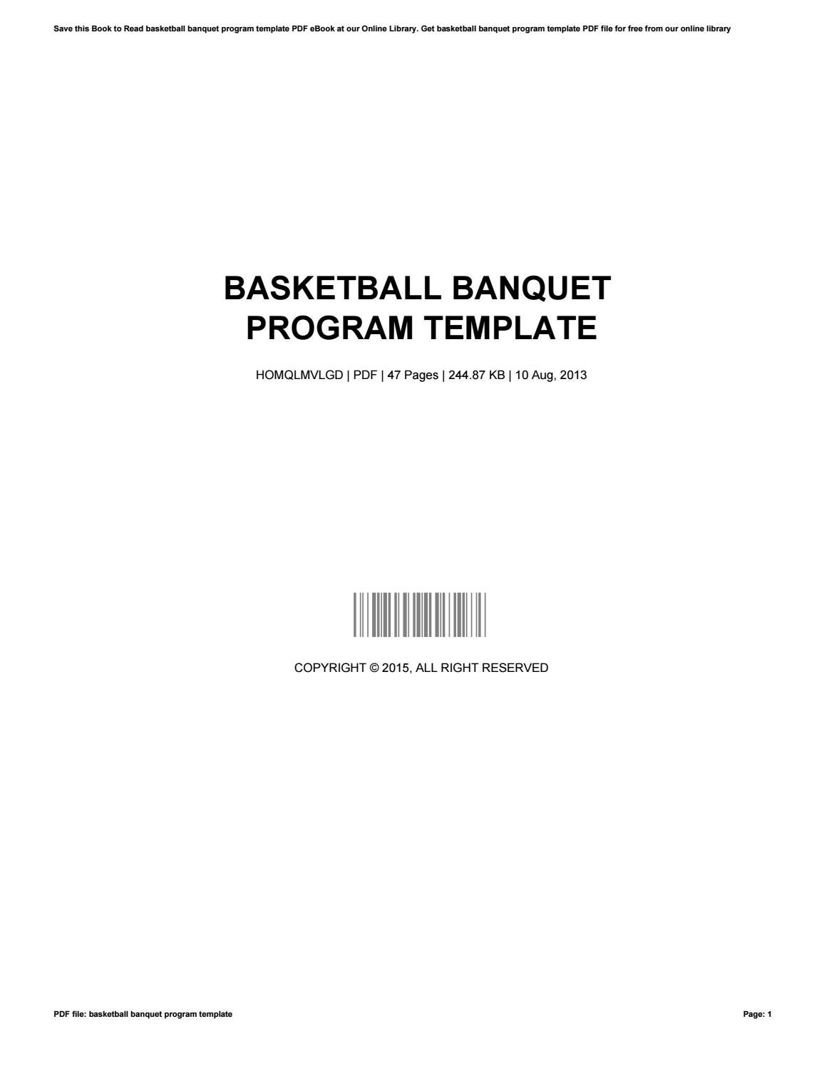 Banquet Program Template from image.isu.pub