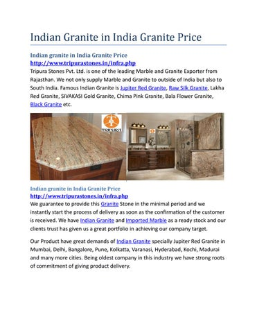 Indian granite in india granite price by marbleindia - issuu