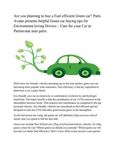 Green Cars 2012> Bussiness, Challenges and Global Oportunities by