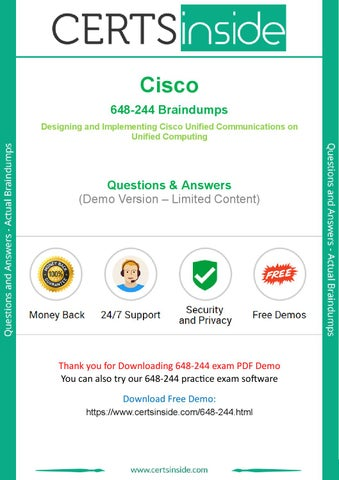Pass 648 244 Exam Easily With Practice Test By Jenny B Baca