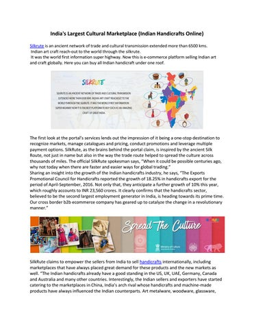 India S Largest Cultural Marketplace Silkrute Com By Gaurav Ghai