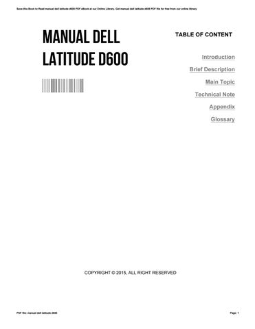 manual dell latitude d600 by kimwakefield3752 issuu rh issuu com dell latitude d600 service manual pdf dell latitude d600 user manual