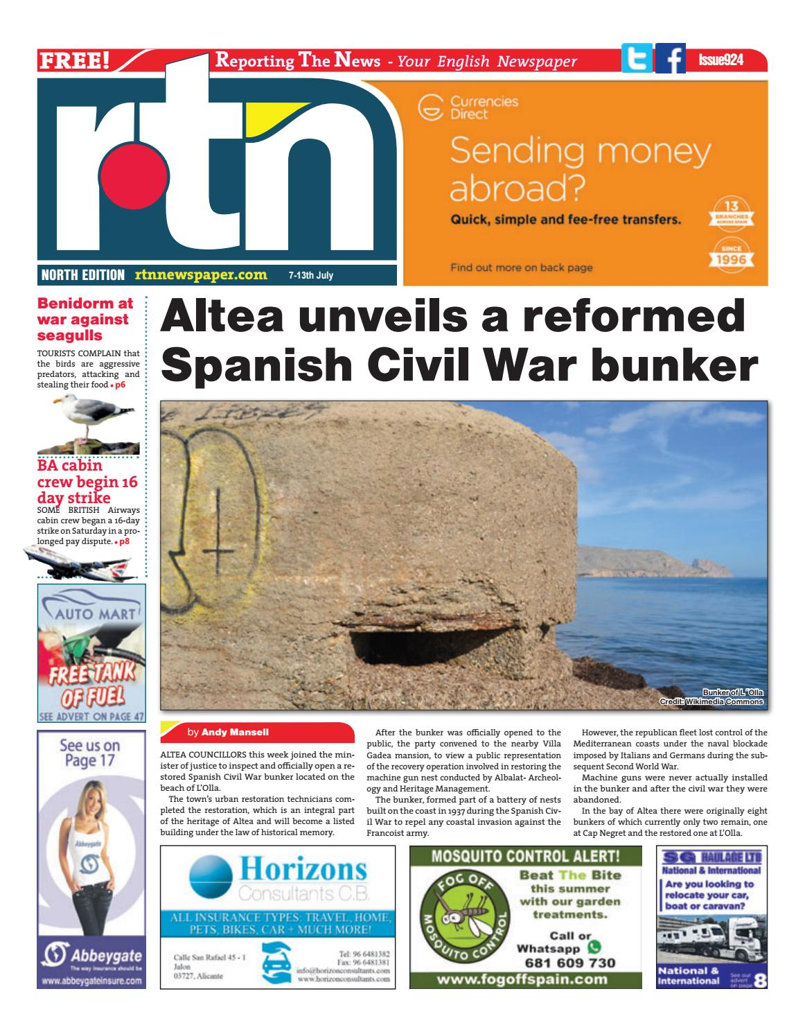 RTN Newspaper - Costa Blanca North 7 - 13 July 2017 Issue