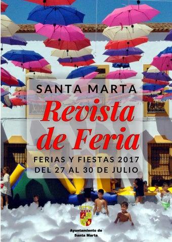 Revista De Feria De Santa Marta 2017 By Ayuntamiento De Santa Marta
