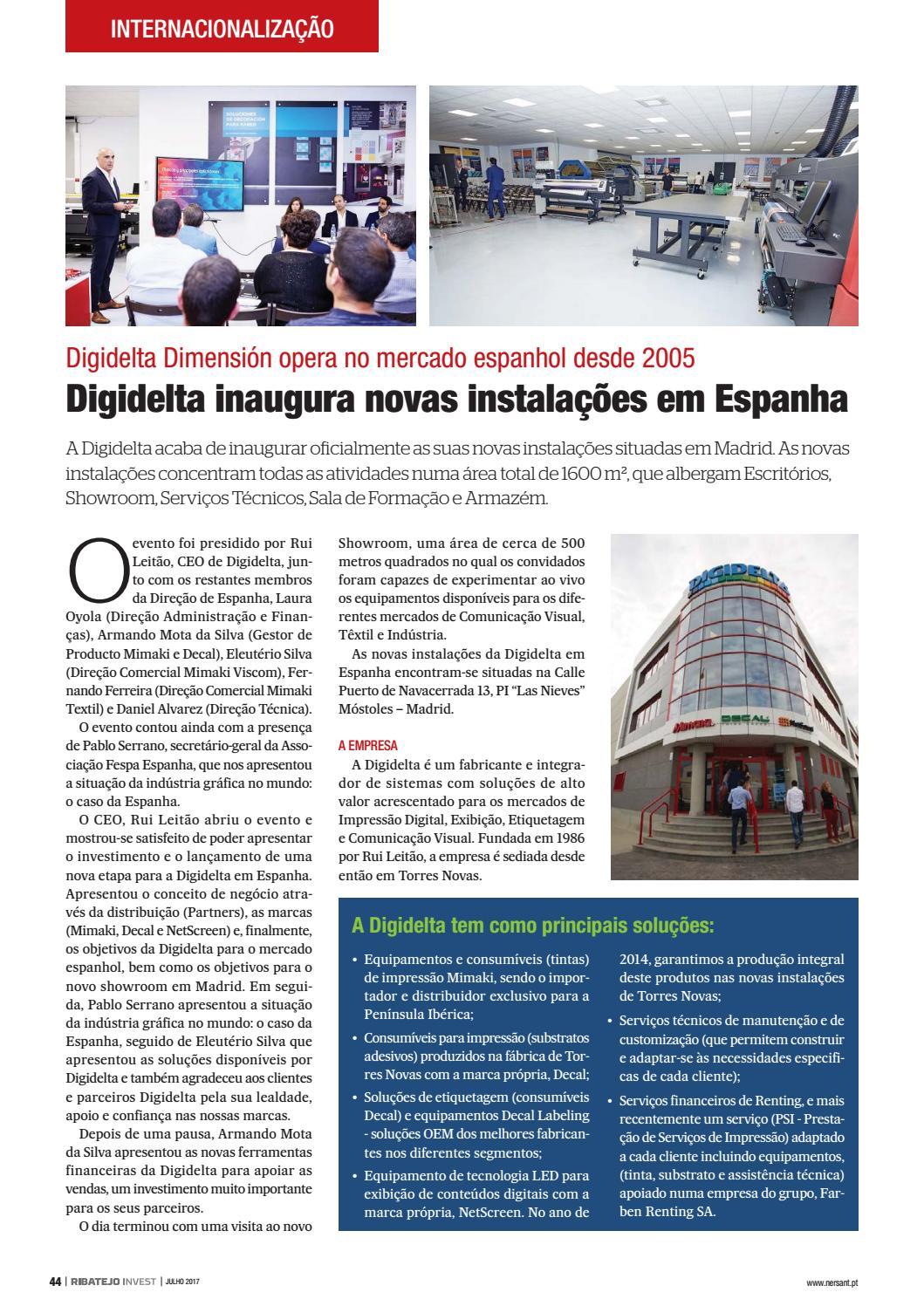 Revista Ribatejo Invest / Julho 2017 by NERSANT Associação