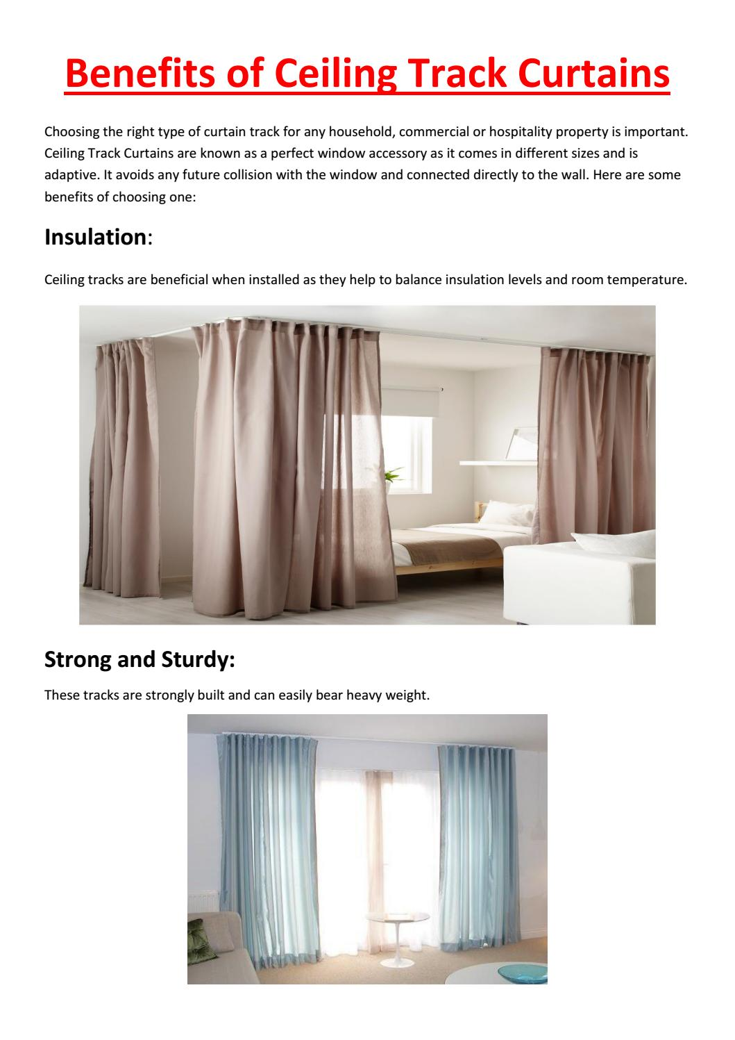 Benefits Of Ceiling Track Curtains By North Shore Trading Issuu