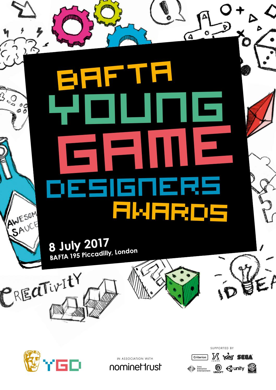 BAFTA Young Game Designers Awards 2017 programme by BAFTA