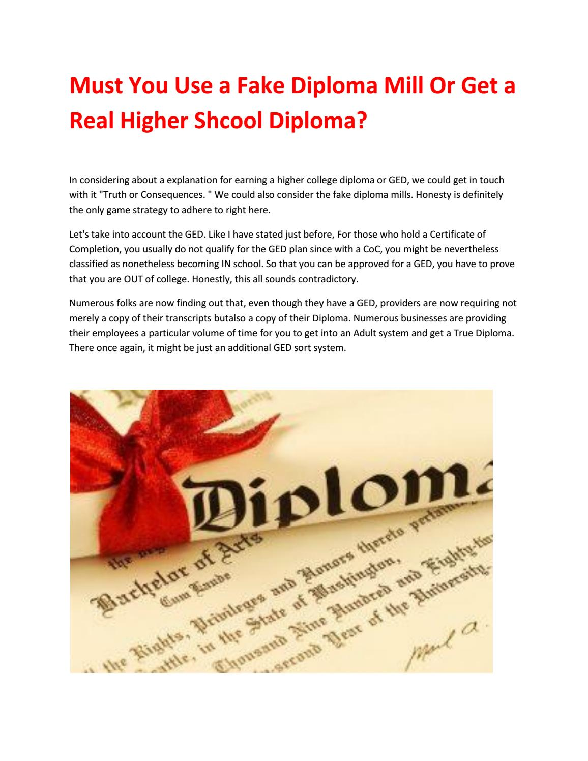 must you use a fake diploma mill or get a real higher shcool diploma by lorraine k kennedy issuu