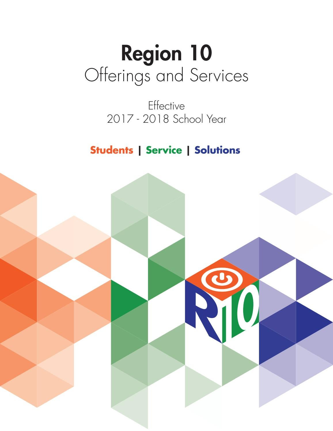 R10 2017-2018 Offerings and Services Catalog