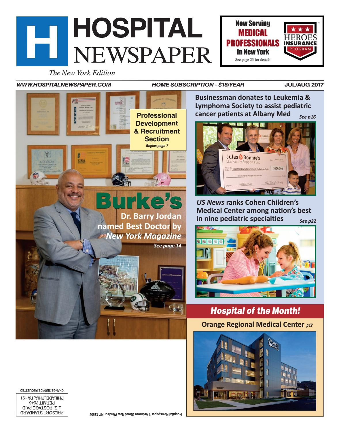 Hospital Newspaper New York July/August 2017 ebook by Belsito