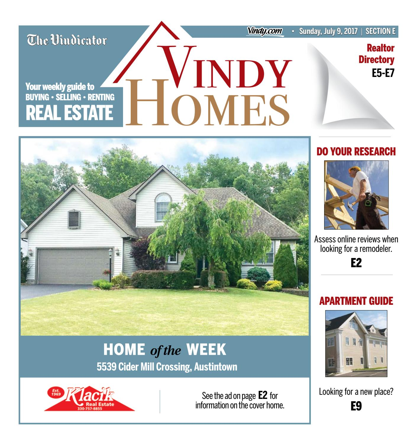 Cider Mill Apartments: Vindy Homes 7-9-2017 By The Vindicator