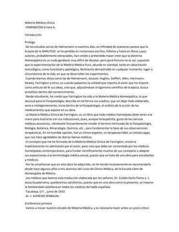 Materia Médica Clínica Farrington02 By Biblioteca De Homeopatia Issuu