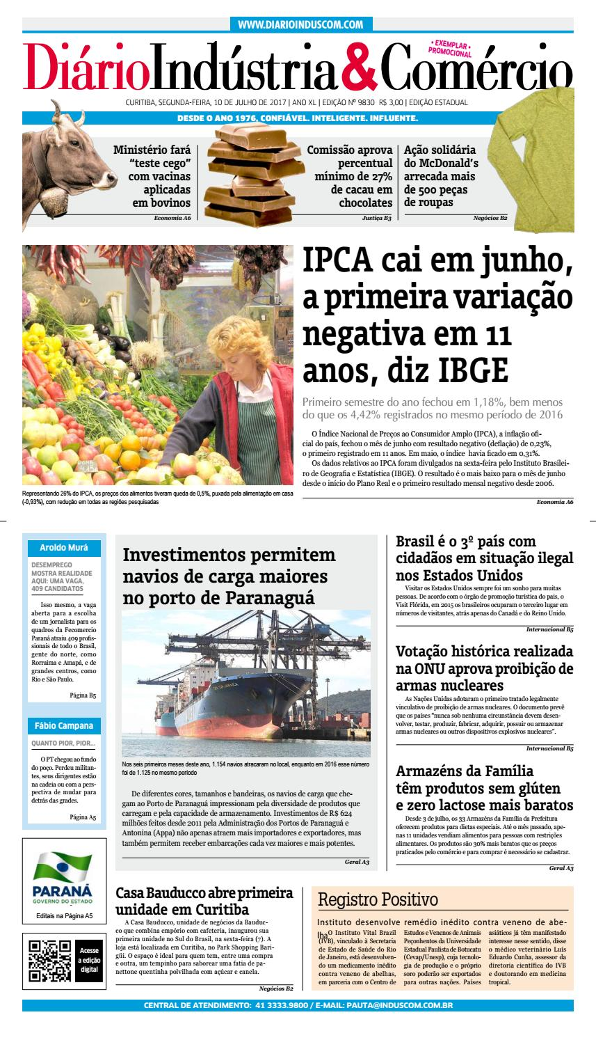 Diário Indústria Comércio - 10 de julho de 2017 by Diário Indústria    Comércio - issuu 41a5511b453