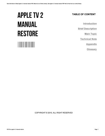 Apple tv 2 user manual array apple tv 2 manual restore by jamesmcwilliams4287 issuu rh issuu com fandeluxe Choice Image