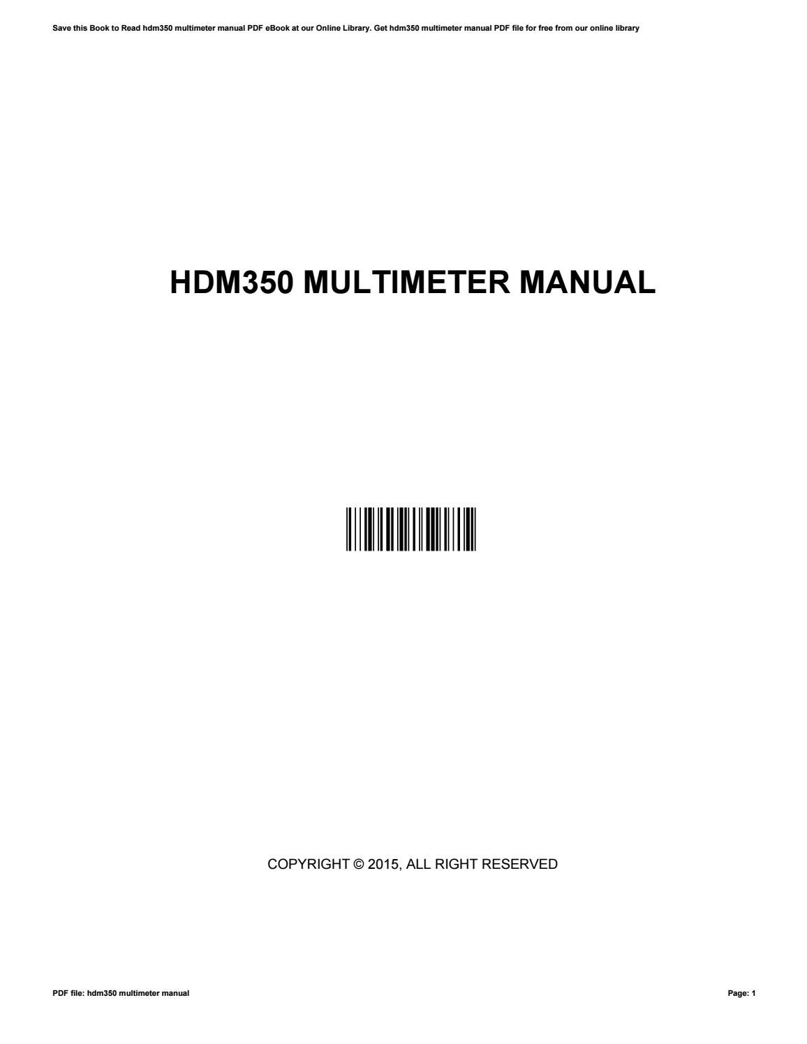 Hdm350 multimeter-manual.