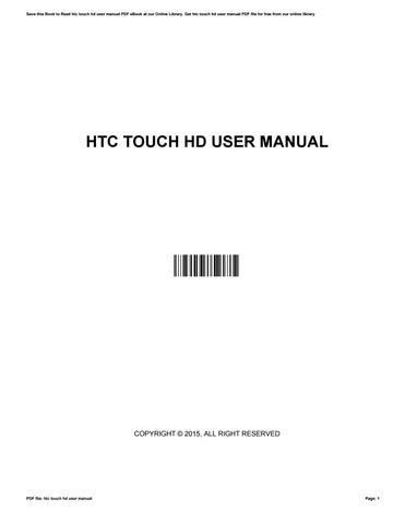 htc touch hd user manual by valeriebullion3703 issuu rh issuu com htc touch diamond 2 user manual pdf Original HTC Touch