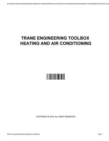 Trane engineering toolbox heating and air conditioning by ronald save this book to read trane engineering toolbox heating and air conditioning pdf ebook at our online library get trane engineering toolbox heating and air fandeluxe Choice Image