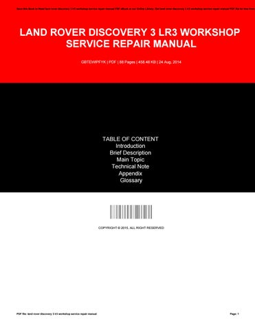 Land rover discovery full service repair manual array land rover discovery 3 lr3 workshop service repair manual by rh issuu com fandeluxe Gallery
