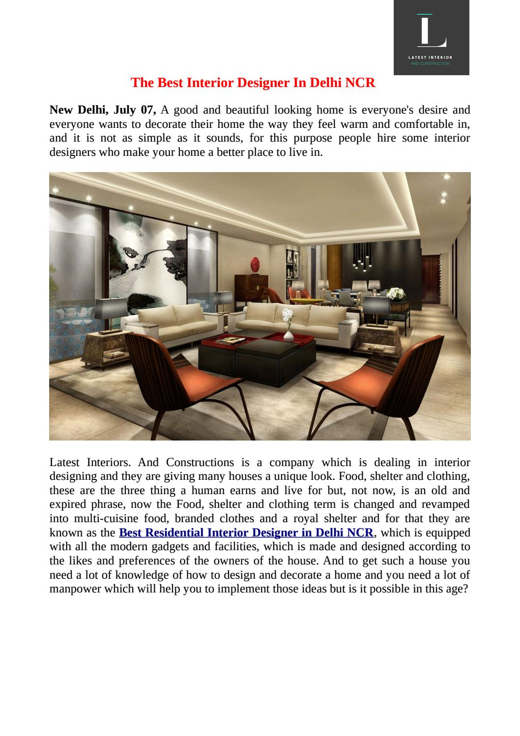 The Best Interior Designer In Delhi Ncr By Latestinteriors Issuu