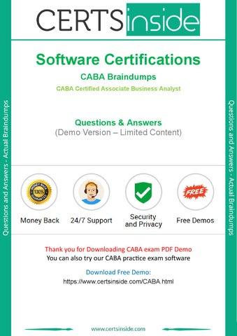 CABA Exam Questions - Pass Software Certifications CABA Exam