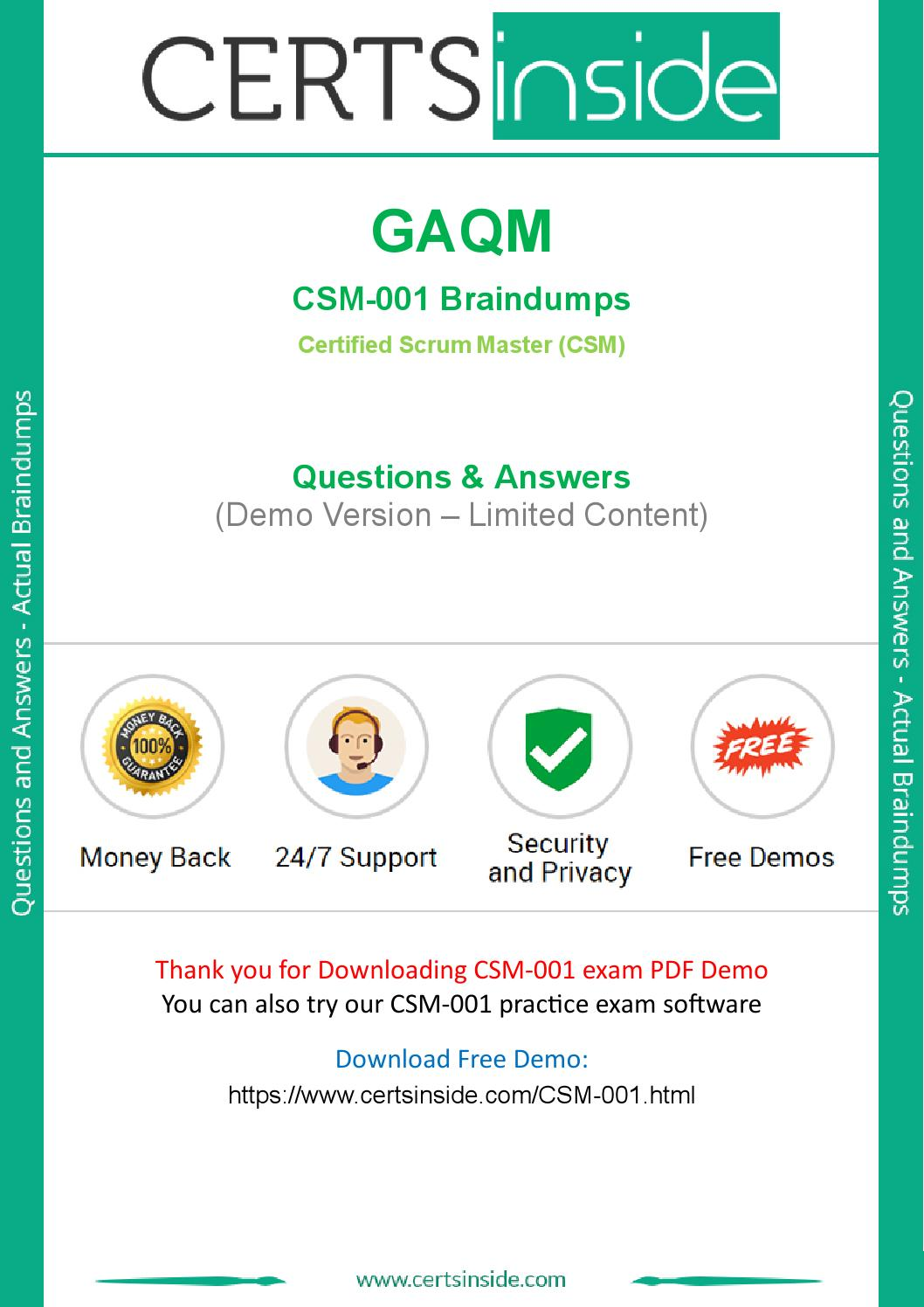 Csm 001 Exam Questions Are Out Download And Prepare Csm 001 By