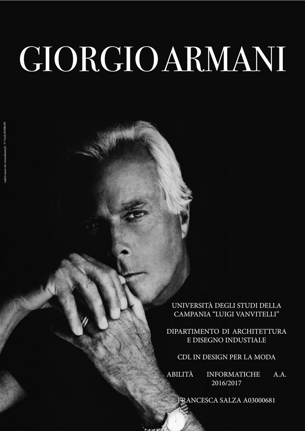 Issuu Giorgio Salza Armani By Francesca SnPnUwqR