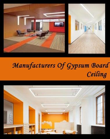 Manufacturers Of Gypsum Board Ceiling by lumentruss - issuu