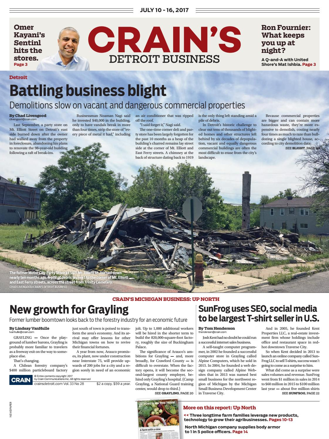 Crain S Detroit Business July 10 2017 Issue By Crain S Detroit Business Issuu