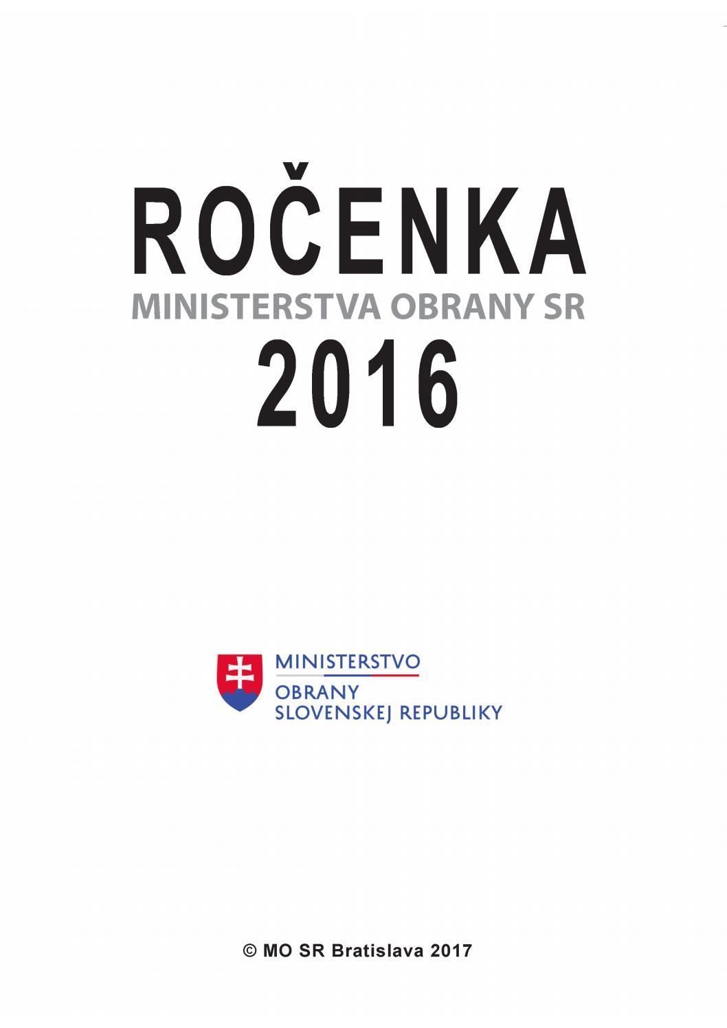 Ročenka MO SR 2016 by Ministerstvo obrany SR - issuu 2f31d9a5db