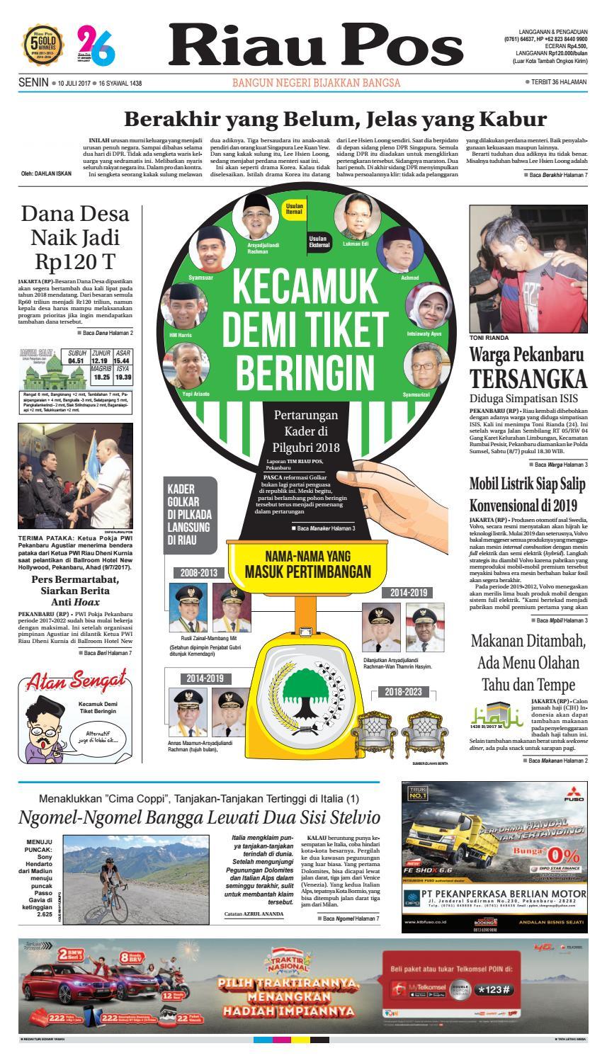 2017 07 10 By Riau Pos Issuu