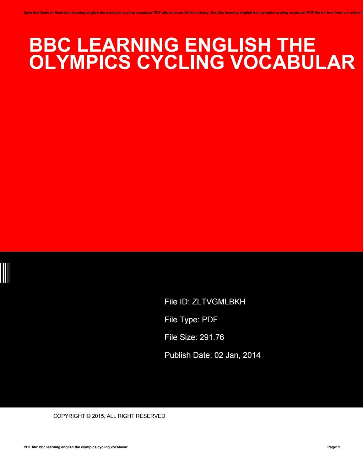 Bbc learning english the olympics cycling vocabular by