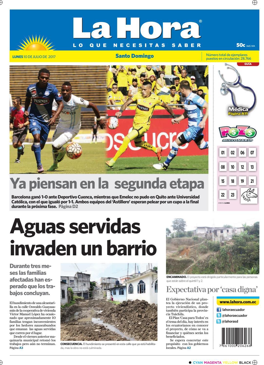 Santo domingo 10 de julio del 2017 by Diario La Hora Ecuador - issuu