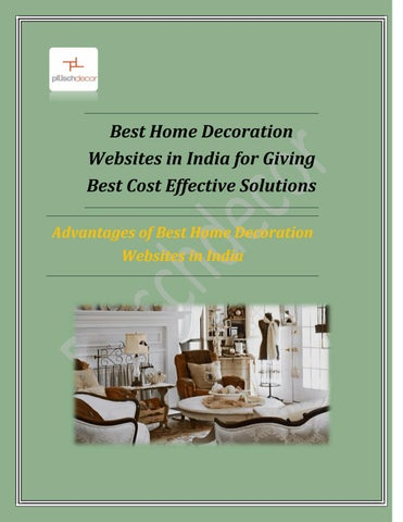 Best Home Decoration Websites in India for Giving Best Cost ...