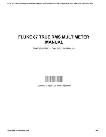 Caswell plating manual by dorothykoenig3220 issuu fluke 87 true rms multimeter manual fandeluxe Choice Image